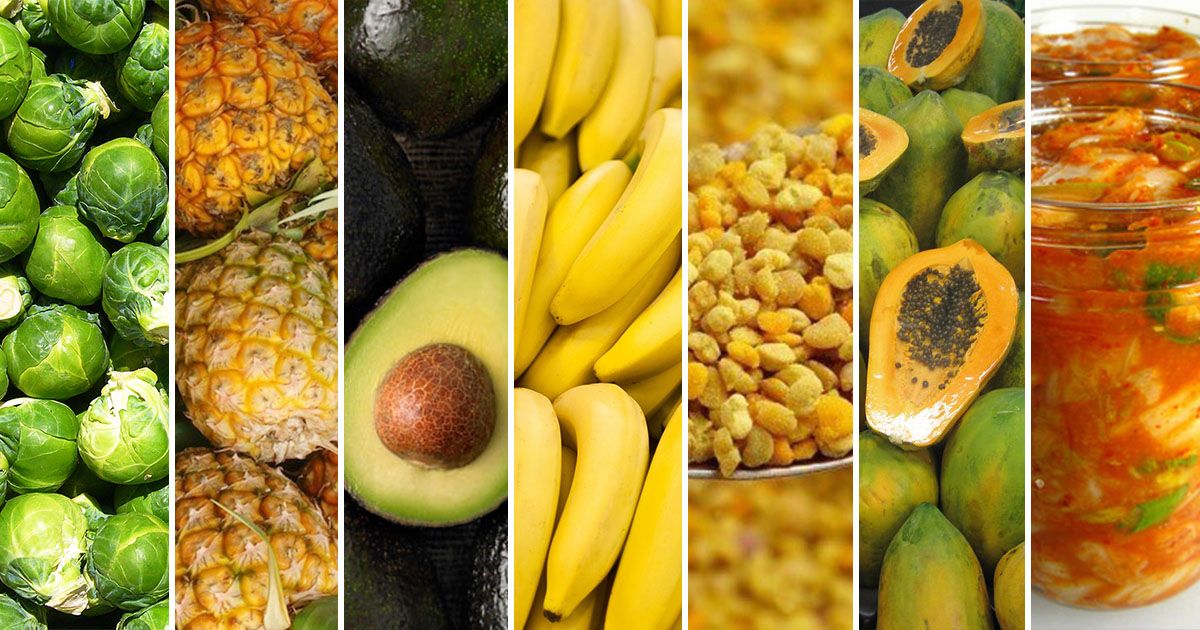 7 Enzyme Rich Foods That Improve Digestive Health Balance